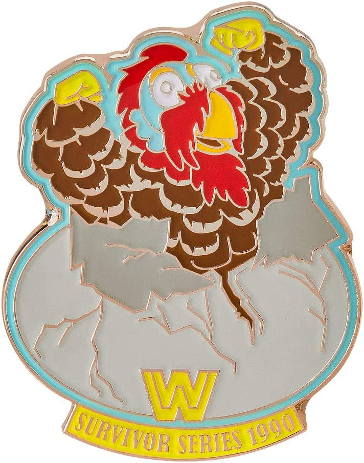 WWE Gobbledy Gooker Survivor Series 1990 Limited Edition Pin Gold