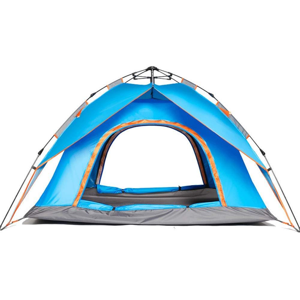 Novopus tente:Tente de Camping Automatique de 3-4 Personnes, Double Double Porte de Tente Orange