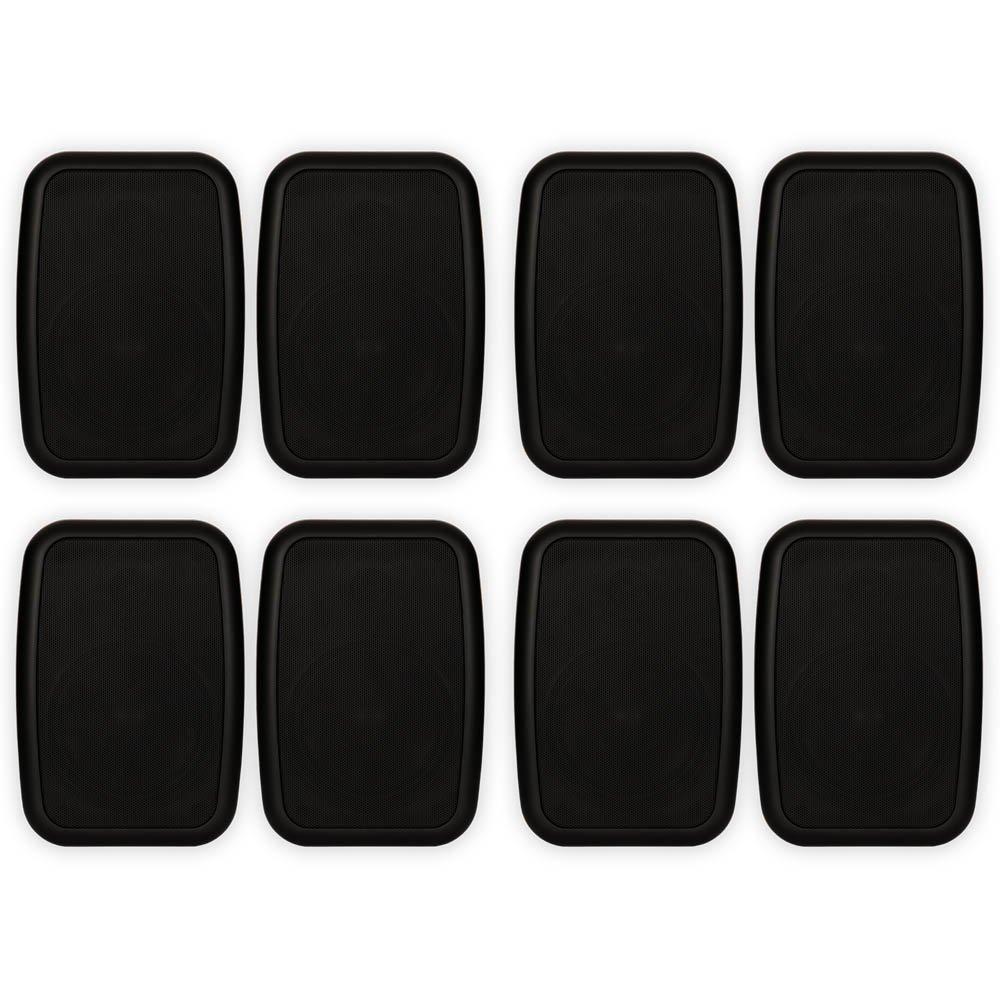 Theater Solutions TS525ODB Indoor or Outdoor Speakers Weatherproof Mountable Black 4 Pair Pack