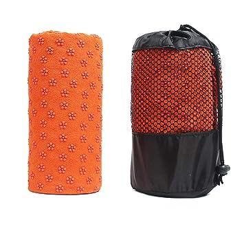 ASDFGH Secado rápido Antideslizante Yoga Mat Toalla, Impreso ...