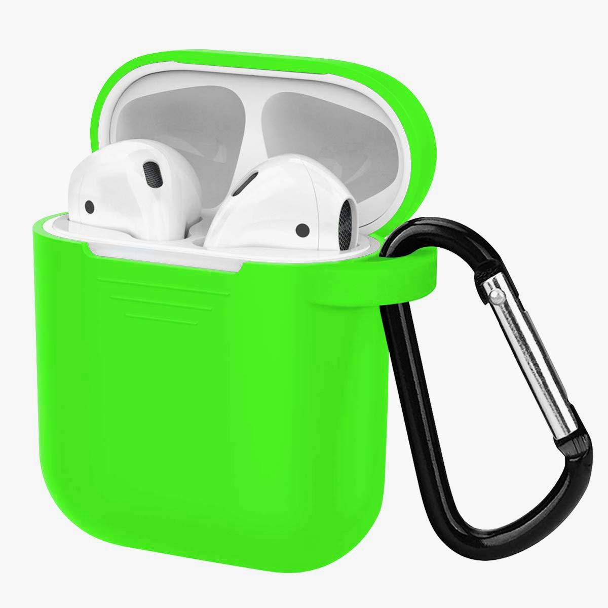 Compatible for AirPods case with Keychain Stripe Shape AirPods Case Green 1