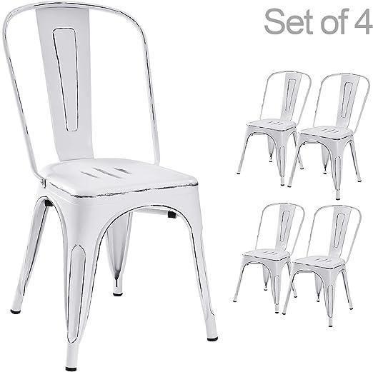 Amazon.com: Devoko - Sillas de metal para interiores y ...