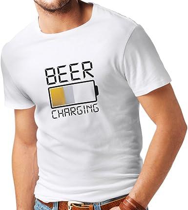 lepni.me Camisetas Hombre Carga de Cerveza, Citas Divertidas, Humor de Bar para Amantes de la Cerveza: Amazon.es: Ropa y accesorios