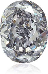 1.41Cts Fancy Violet Gray Loose Diamond Natural Color Oval Shape GIA Certified