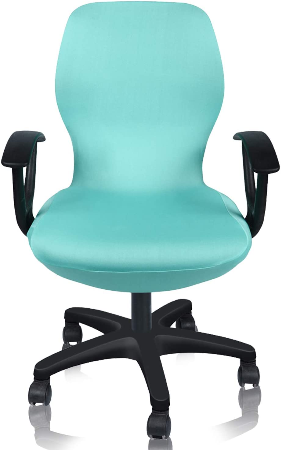 Deisy Dee Computer Office Chair Covers Pure Color Universal Chair Cover Stretch Rotating Chair Slipcovers Cover ONLY Chair Covers C098 (Lake Blue)
