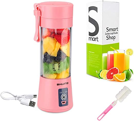 USB Household Fruit Mixer Six Blades in 3D 380ml Portable Juicer Blender