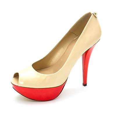 Stuart Weitzman Womens Diplille Leather Peep Toe Classic Pumps Tan Size 8.0