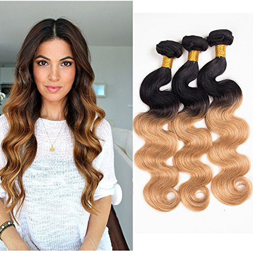 UR Meili Mink Brazilian Virgin Hair Body Wave Ombre Brazilian Hair Weave Bundles 10a Grade Virgin Unprocessed Human Hair Today Only Hair(24 24 24 24 inch)