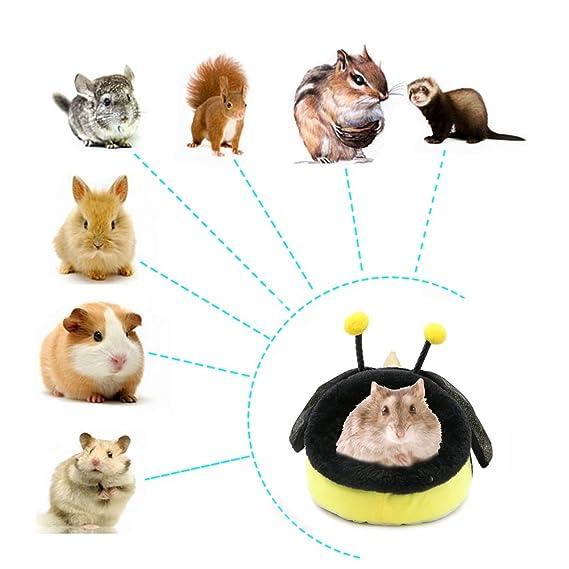 Pequeña casa de animales, hámster de algodón de peluche, casa de ratas Nestcute, cálida cueva de dormir, casa para hámsteres, cobayas, conejos, erizos, ...