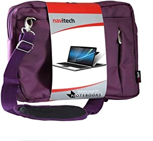 Navitech Purple Premium Messenger/Carry Bag - Compatible with The Acer Aspire VX 15 (VX5-591G-54MY) Laptop Gaming 15 inch