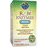 Garden of Life Vegetarian Digestive Supplement for Men - Raw Enzymes Men for Digestion, Bloating, Gas, and IBS, 90 Capsules
