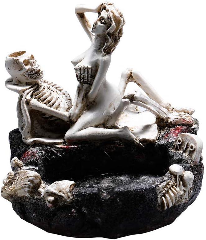 Tvoip Creative Skull Ashtray Ashtray Girl Skull and Fun Taste The Living Room Decoration