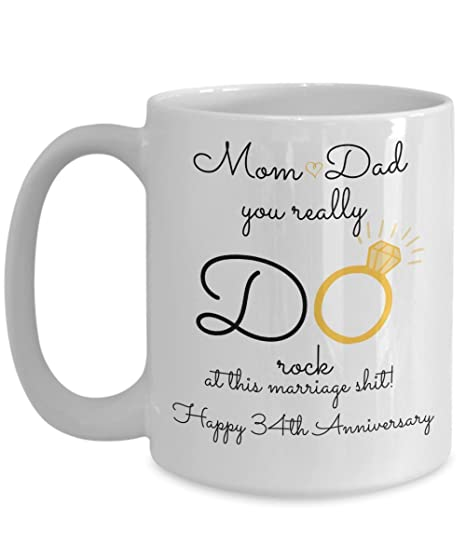 Image Unavailable. Image not available for. Color: 34th Wedding Anniversary Gift ...