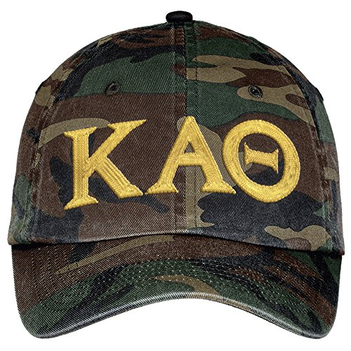 Kappa Alpha Theta Lettered Camouflage Hat Military Camo