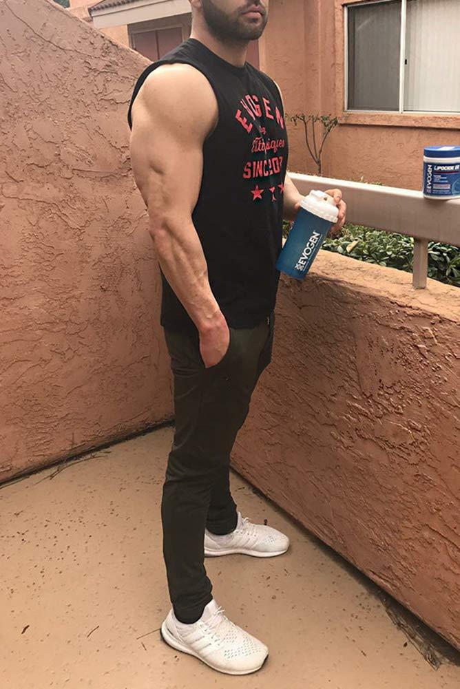 FASKUNOIE Mens Zipper Ankle Joggers Gym Track Sweatpants Elastic Cotton Pants with Pockets