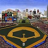Ceramic Tile Coaster - Detroit Baseball - Detroit Sports Teams - Comerica Park - Sports Team Stadium Series - Ceramic Tile - Ceramic Coaster - Decorative Art Work