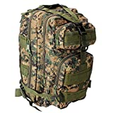 Tactical Backpack - Oubakeji Military Tactical Backpack Waterproof Nylon Outdoor Trekking Camping Tactical Molle Pack for Men, Women and Kids, Multiple Color (Jungle Camouflage)