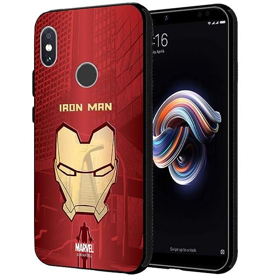 newest 8ecc9 e12e9 CellKraft Marvel Iron Man Printed Mobile Cover for Redmi Note 5 Pro (Hard  Back & Flexible Bumper), Multi-Colour