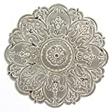 Cheap Stratton Home Décor S11565 Small Medallion Wall, Grey