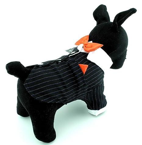 Zunea Traje de esmoquin para perro, pequeño, formal, para cachorro ...