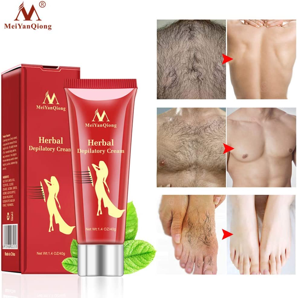 Iusun Hair Removal Cream Unisex Depilatory Ginseng Painless Flawless Fast for Body Underarms Armpit Legs Knees Bikini Area Soft Skin Care Long Last Smoothness