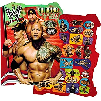 wwe world wrestling shaped coloring book with stickers - Wwe Coloring Books