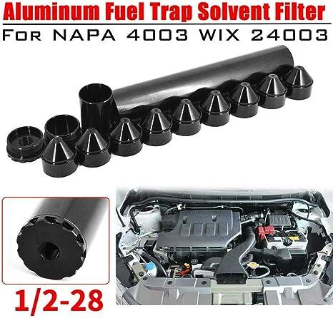 Solo para Uso automotriz 13 Piezas de aleaci/ón de Aluminio 1//2-28-5//8-24 24003 4003 Filtro de Combustible automotriz Cherishly Filtro de Combustible para autom/óvil