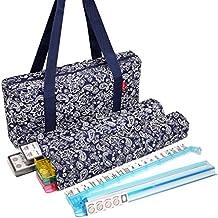 NEW! - American Mahjong Set by Linda Li™ - 166 White Tiles, 4 All-In-One Rack/Pushers, Blue Paisley Soft Bag – Classic Full Size Complete Mahjongg Set