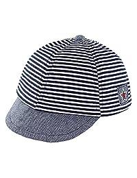 Infant Baby Baseball Cap Striped Sunhat Kids Cotton Sun Protection Cargo Hat