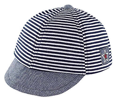 3c9c849bb75 Infant Baby Baseball Cap Striped Sunhat Kids Cotton Sun Protection Cargo Hat