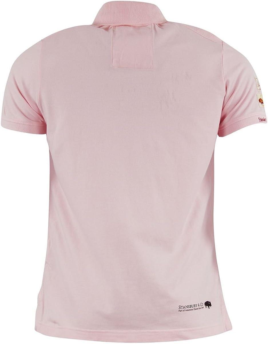 Stansbury-Polo para hombre, color negro y rosa rosa medium: Amazon ...