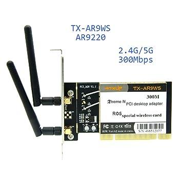 Amazon.com: AR9220 802.11a/b/g/n 2.4GHz/5GHz 300Mbps Tarjeta ...
