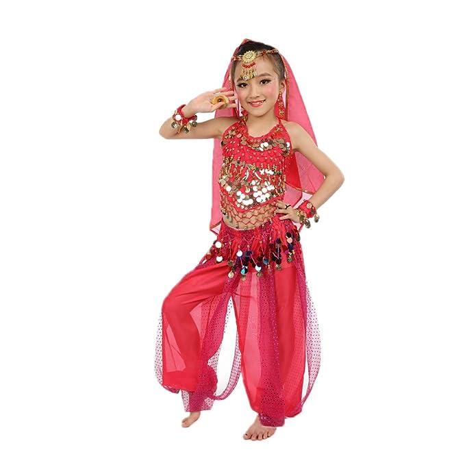 KINDOYO Trajes de Danza del Vientre para Niños Conjuntos de ...