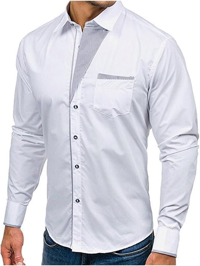 Babi Camiseta Manga Larga Hombre Camiseta Manga Larga etiqueta Camisas Longsleeve Sudadera Polo Hombre Grandad Casual Outdoor Camisa Superior de hombre con botones de cuello alto, blanco: Amazon.es: Bricolaje y herramientas