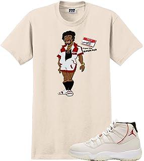 149f3532fc76 Custom T Shirt Matching Style of Air Jordan 11 Platinum Tint JD 11-4 ...