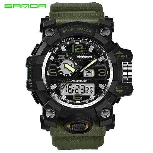 30m Cuarzo Militar Sanda 742 De Reloj Impermeable Choque H9I2YWED