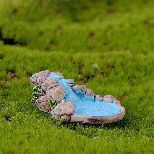 KWOSJYAL Mini Esculturas Pequeñas Jardín De Hadas Miniatura Bonsai Decoración Artesanía Figuras Decorativas Micro Paisaje Juguete Casa Accesorios 3B: Amazon.es: Jardín