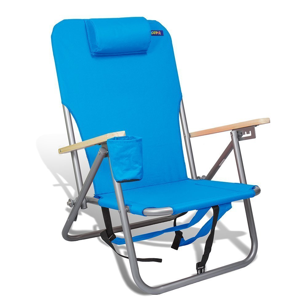 Beach /& Camping Outdoor Chair Backpack 4 Position Ultra-Resistant Steel by Copa Assorted Colors