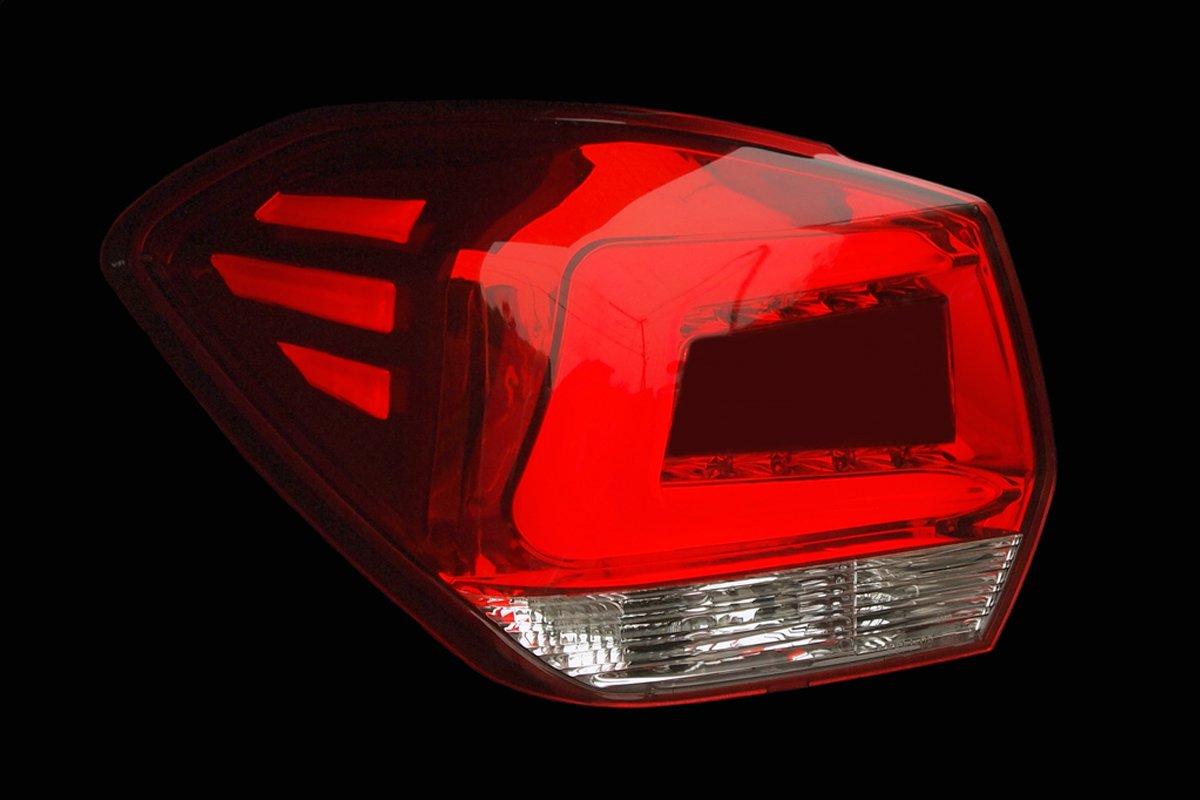 Colinシャレード スバル インプレッサスポーツ/XV ブラックホールLEDテールランプ 【クロームメッキ/レッドレンズ】 B01C27EJ3M