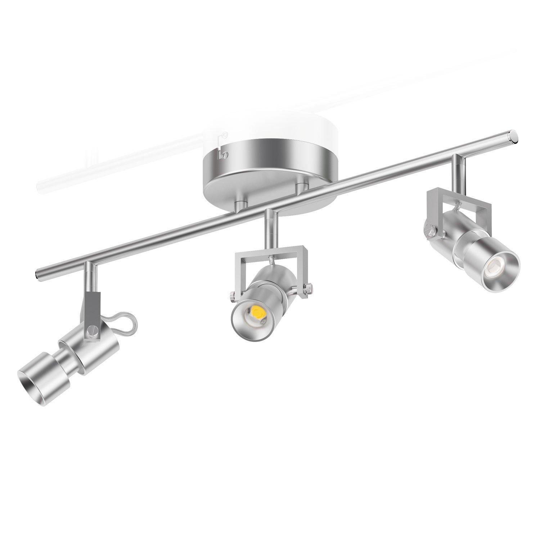 ledscom.de LED plafonnier Kari, à trois ampoules, aluminium, B-Ware (Verpackung kann beschädigt sein) [Classe énergétique A+] LEDs Com GmbH LC-L-069-WW