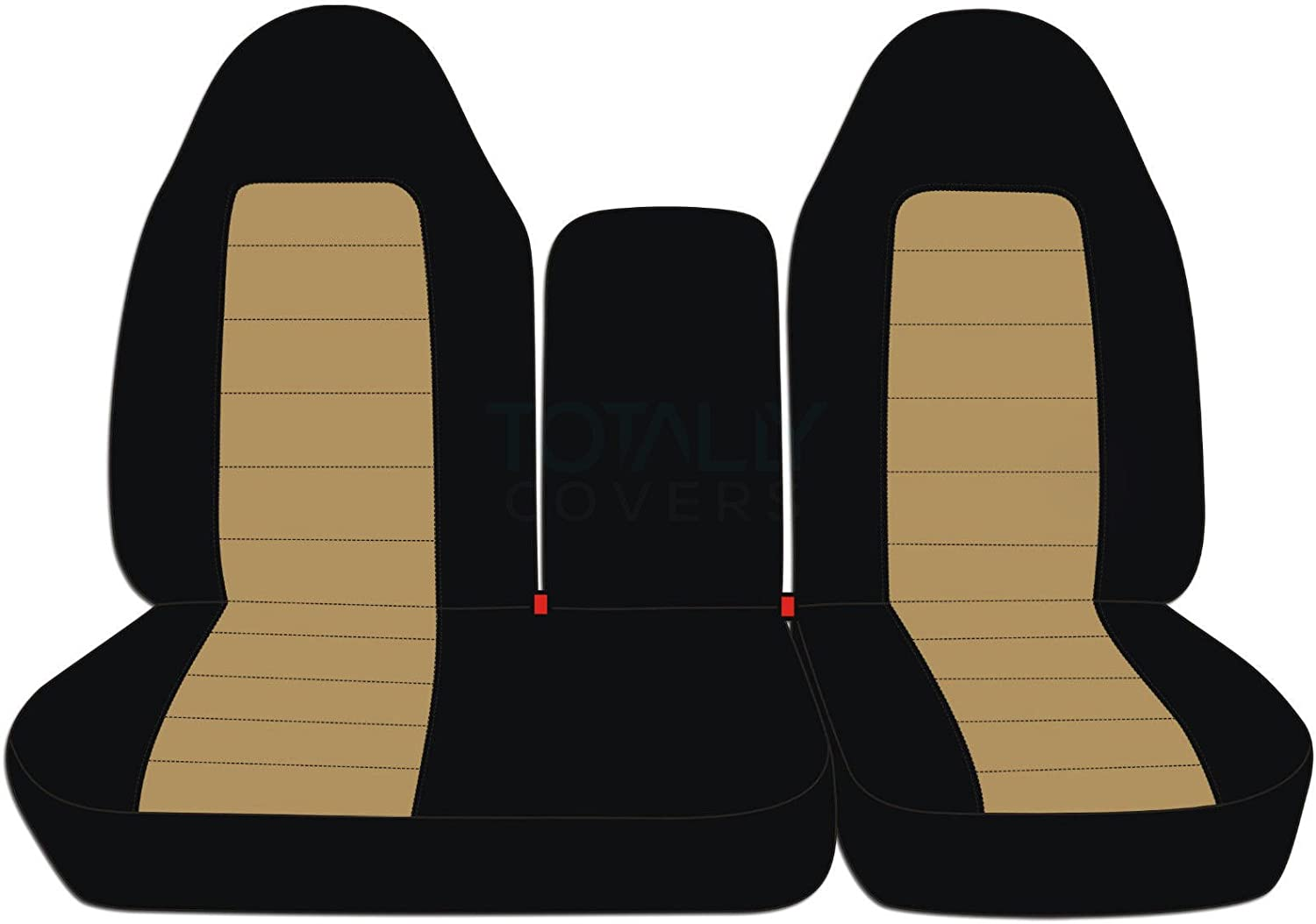 : Black /& Gray 1998 1999 2000 2001 2002 F-Series Extended F150 Back Rear 40//60 Split Bench Totally Covers Fits 1997-2003 Ford F-150 Super Cab Two-Tone Truck Seat Covers 21 Colors