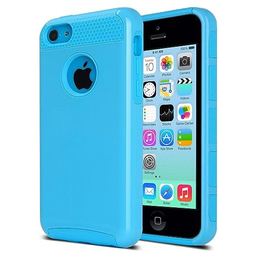 38 opinioni per ULAK- iPhone 5C Cover, Case Cover duplice ibrido per iPhone 5C. Cover duro per