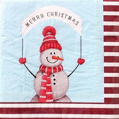 Gibson Snowman (CR Gibson Luncheon Christmas Napkins ~ Happy Snowman 20 ct)