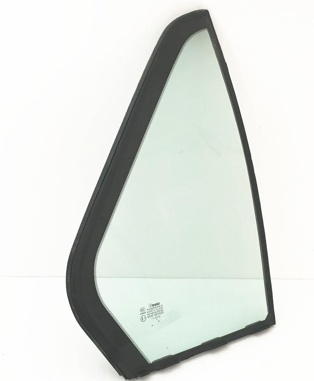 NAGD Compatible with 1990-1993 Honda Accord 4 Door Sedan Passenger Right Side Rear Vent Window Glass
