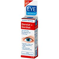 EyeMedica Gereizt+Gerötet Augentropfen  Medizinprodukt Mit 2% Dexpanthenol beruhigt und schützt angegriffene Augen   Geeignet für Kontaktlinsenträger   ohne Konservierungsmittel   165 Anwendungen