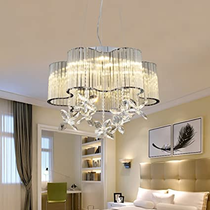 XUANLAN Modern Simple Crystal Chandelier 8 Lights Moda de ...