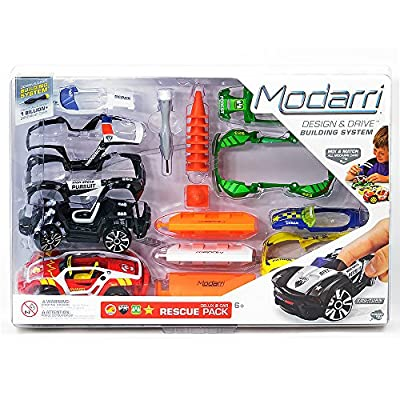 Modarri Rescue Vehicle Building Toys | Ultimate Toy Car Building Kit | STEM Toys | Best Kids Toys | Design Build and Drive Your own Toy car | Police Car Ranger Rescue: Toys & Games