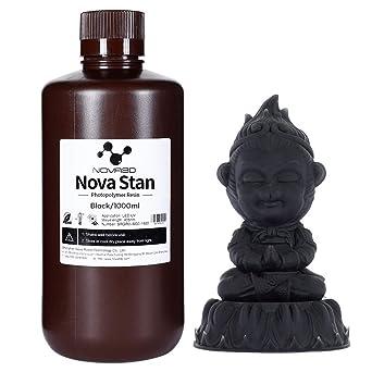 NOVA3DUV樹脂405nm光造形3Dプリンター専用LCD3Dレジン光硬化可能、黒1000ml