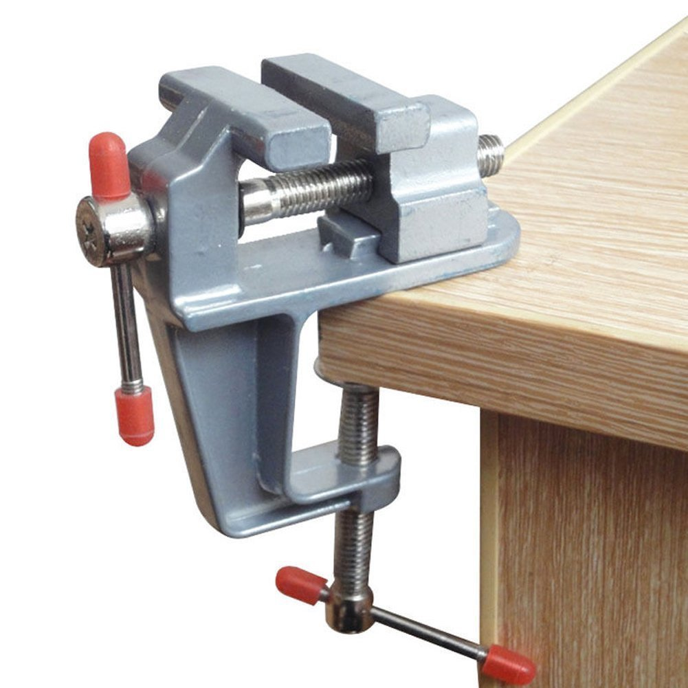 Sourcemall Mini Bench Vise Small Table Clamp Hobby Craft Repair Tool (Clamping Range: 0-1.2'')