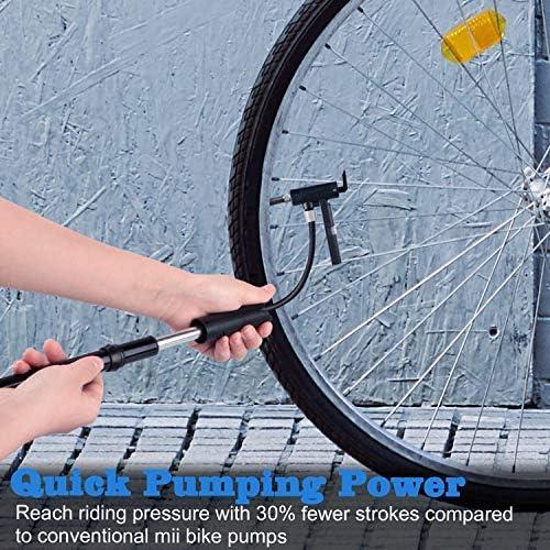 Zaeel Mini Bomba de Bicicleta, Ligero y Flexible, Bomba de Aire de ...